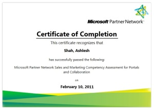Microsoft Certified Sales & Marketing Professional for Portals and Collaborations