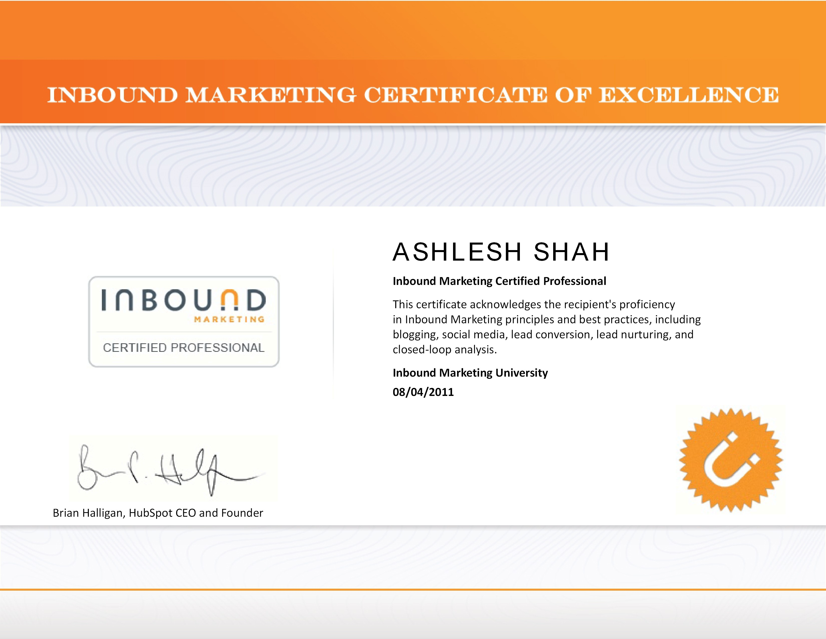 Accreditations the knowledge of light inbound marketing certification xflitez Gallery